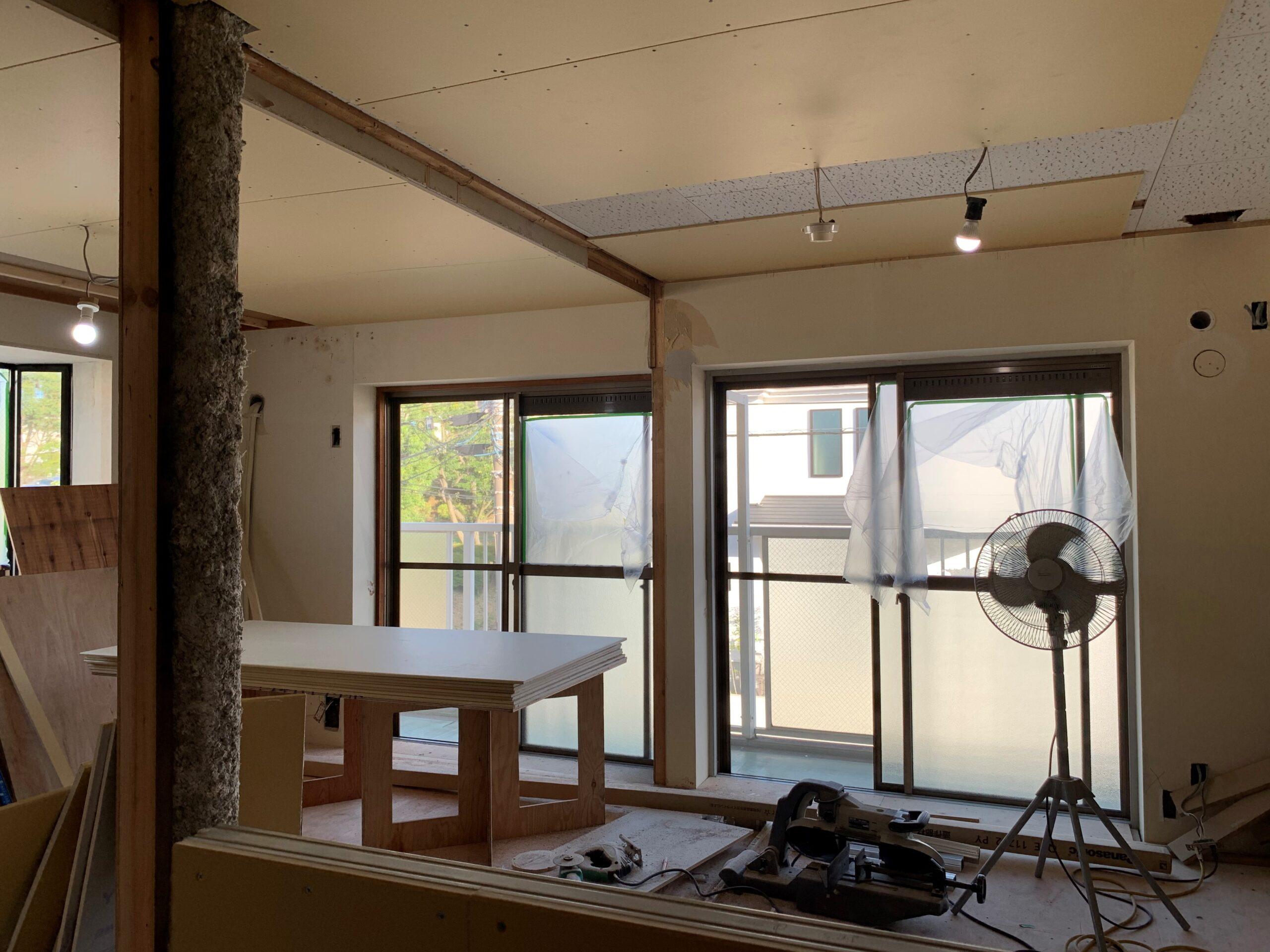 マンションリノベーション木工事
